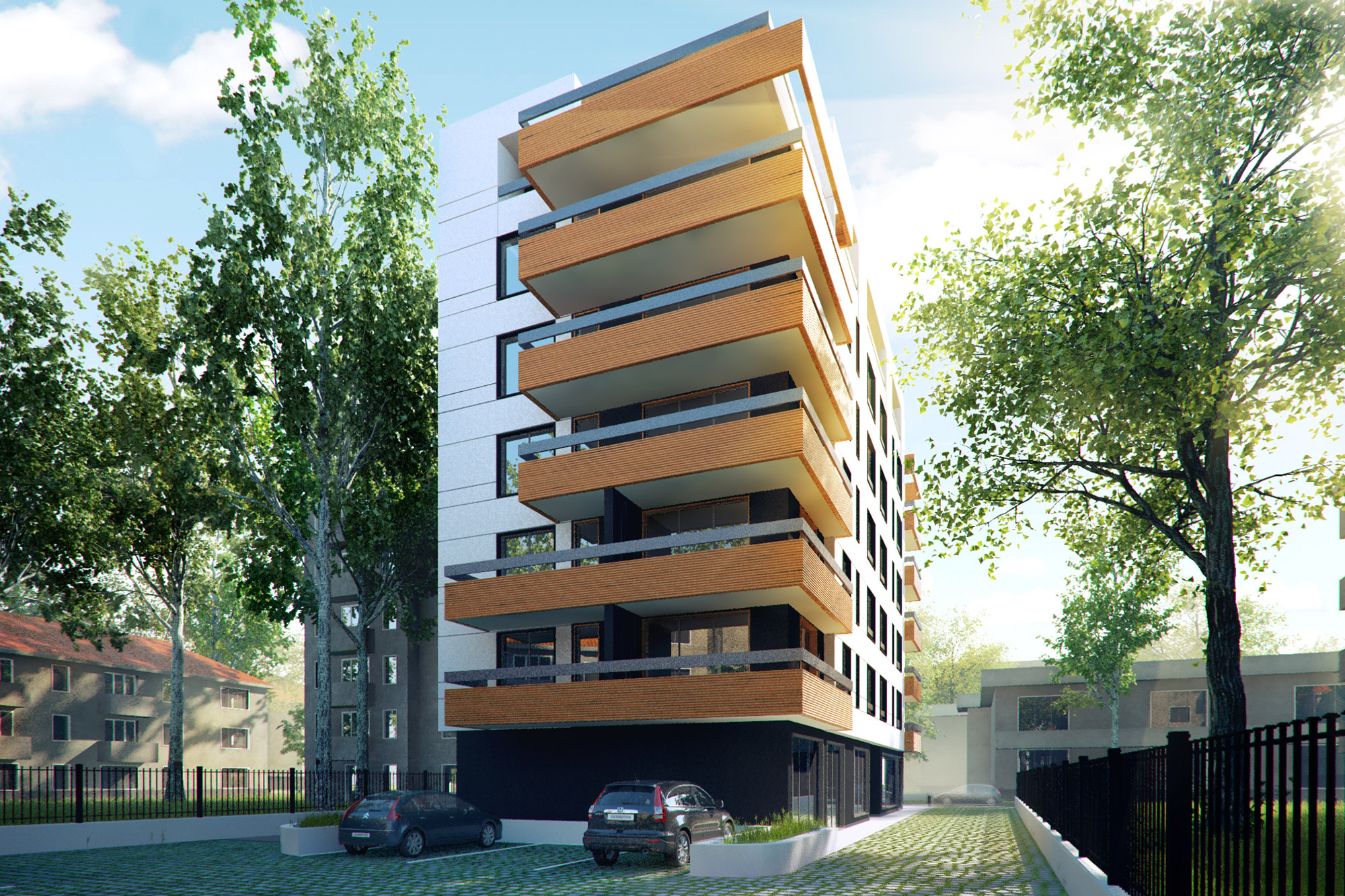 Residential building iztok sofia kunchevarchdesign for Residential house builders