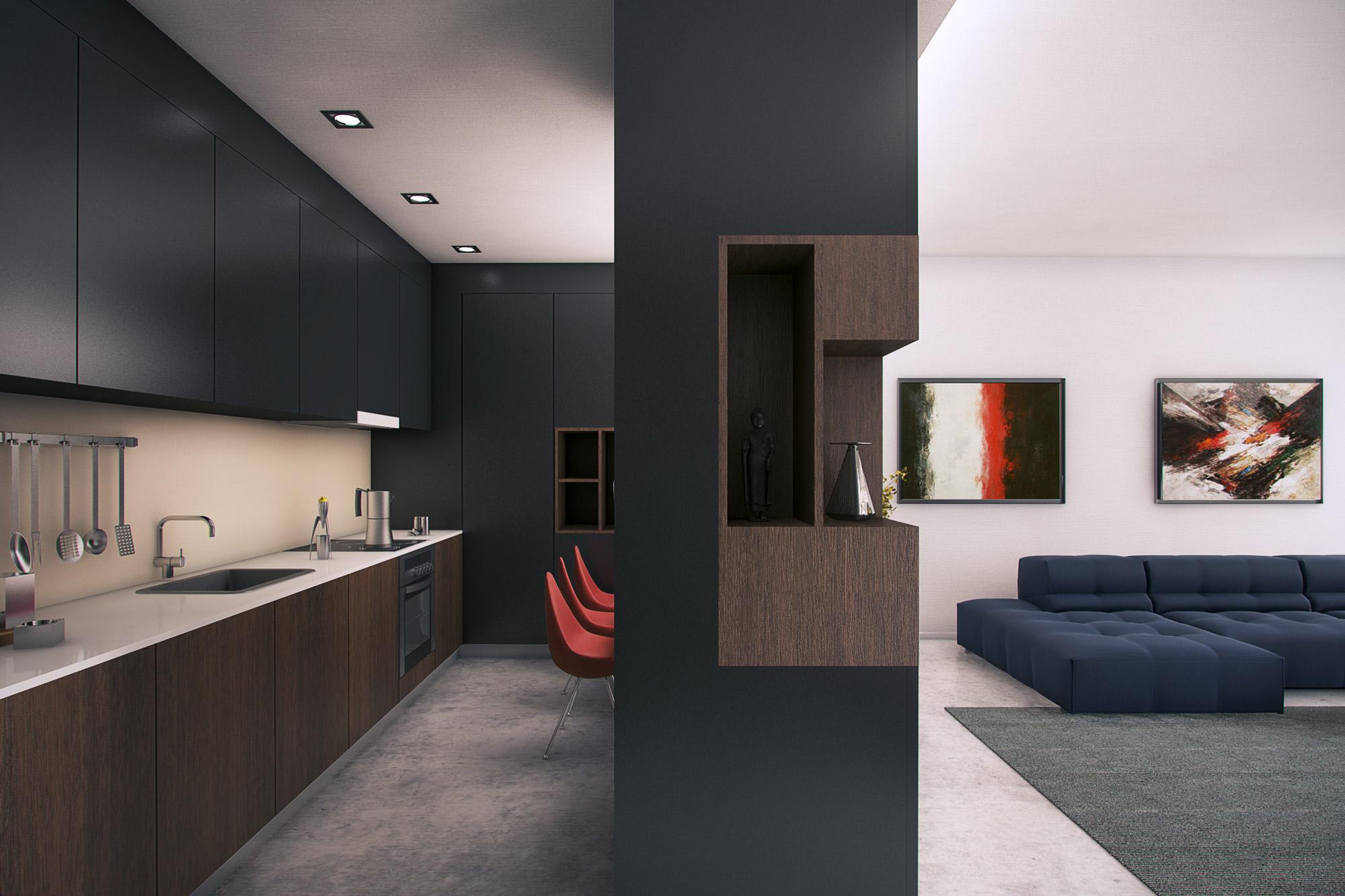 Apartment interior concept sofia kunchevarchdesign for Apartment design concepts pdf