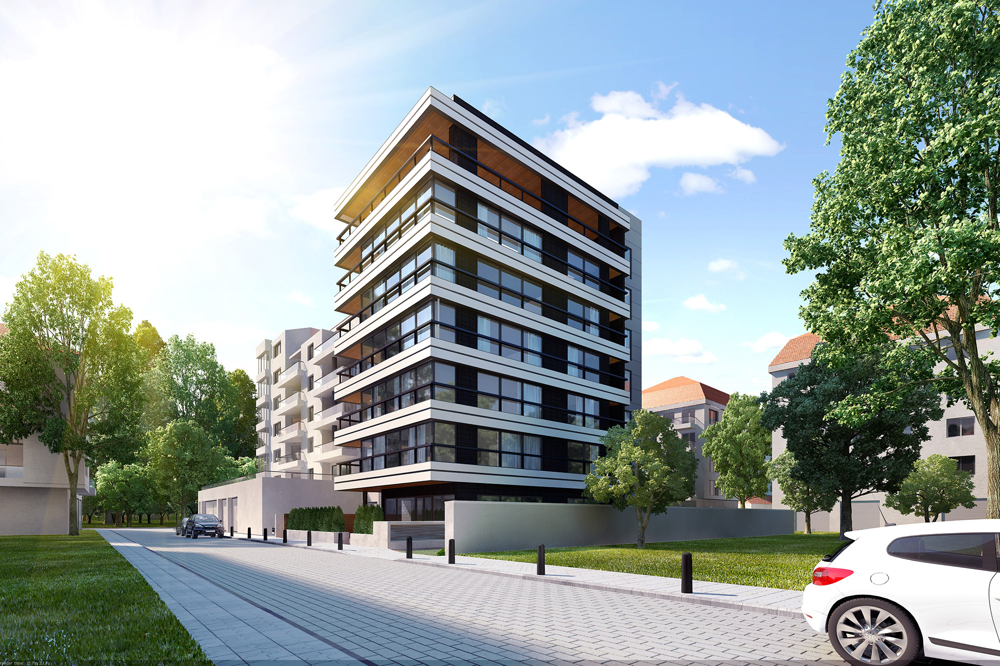 Residential building lozenets sofia kunchevarchdesign for Residential house builders